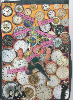 What Time? Collage by Bella Basura. Spain 1994.