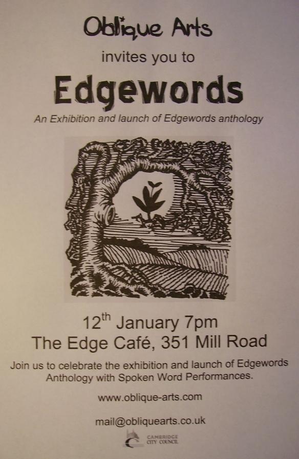 Edgewords Launch 12th January 2018 The Edge Cafe cambridge