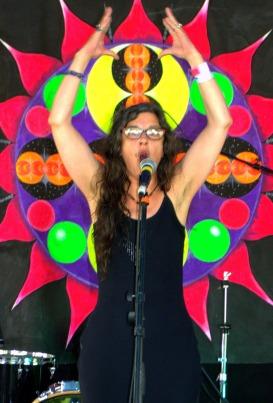 Bella Basura Still Showing her Armpit Hair to Strawberry Fair. Scarecrow Corner 2019. Photo by Del Blyben